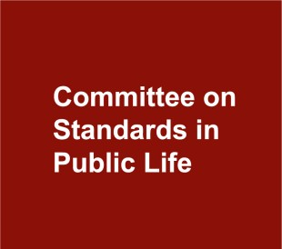 Image result for committee on standards in public life